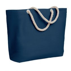Geanta de plaja cu manere, Cotton, blue