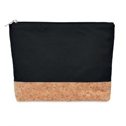 Geanta cosmetice, pluta&bumbac, Cotton, black