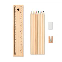 Set de 12 creioane de lemn, Wood, wood