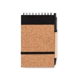 Notes A6, coperta pluta,  pix., Paper, black