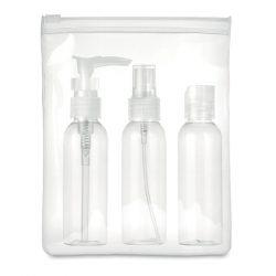 Set voiaj PE in husa PEVA, Plastic, transparent
