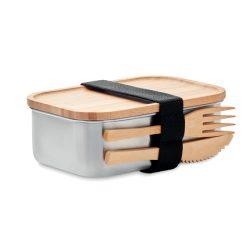 Cutie pt pranz de inox 600ml, Item with multi-materials, wood