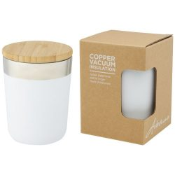 Lagan 300 ml copper vacuum insulated stainless steel tumbler with bamboo lid