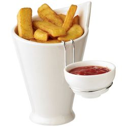 Chase fries and sauce holder