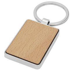 Mauro beech wood rectangular keychain
