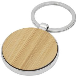 Nino bamboo round keychain