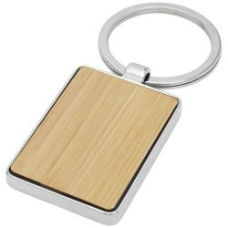 Neta bamboo rectangular keychain