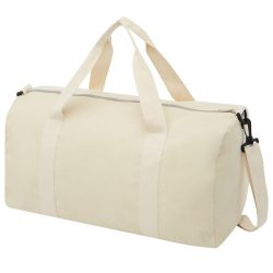Pheebs 210 g/m² recycled cotton and polyester duffel bag