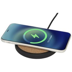 Kivi 10W limestone/cork wireless charging pad