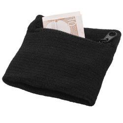 Brisky performance wristband with zippered pocket