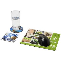 Q-Mat® mouse mat and coaster set combo 1
