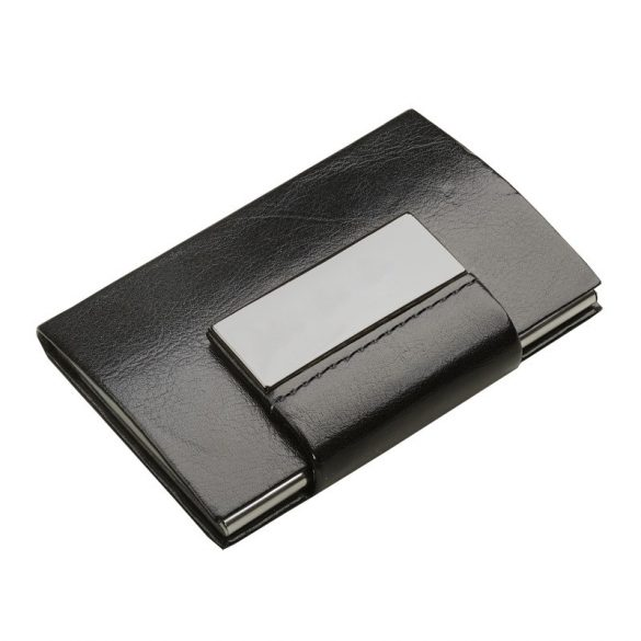 LOGOMALL business card case,  black