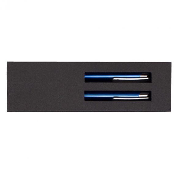 CAMPINAS gift set with ballpoint pen and mechanical pencil,  blue