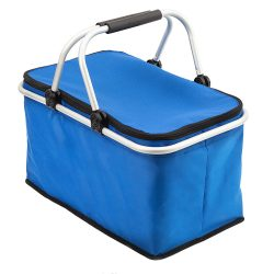 HURON insulated picnic basket, blue