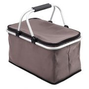 HURON insulated picnic basket, grey