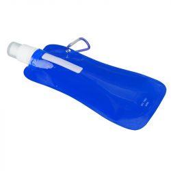 EXTRA FLAT folding sports bottle 480 ml,  blue