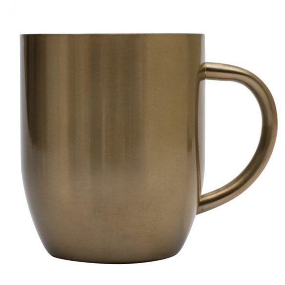 DUSK stainless steel thermo mug 380 ml,  gold