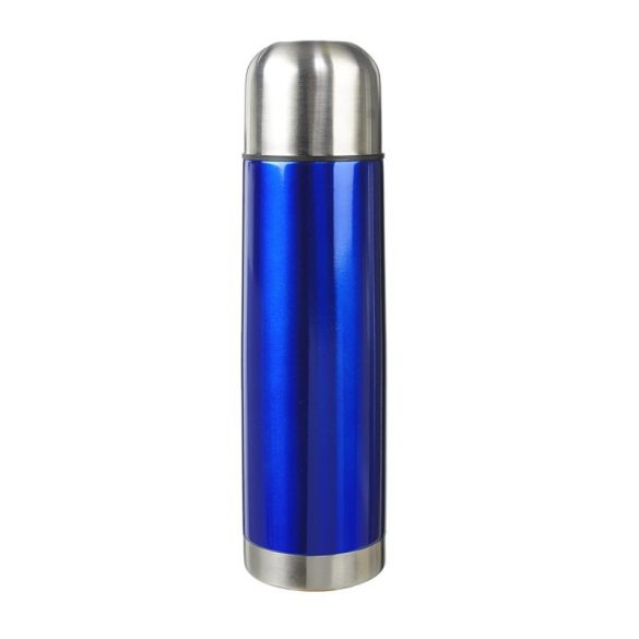 PICNIC thermos flask set 480 ml and 2 thermo cups 180 ml,  blue/silver
