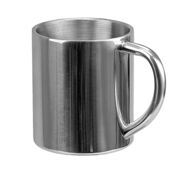 STURDY stainless steel thermo mug 240 ml,  silver