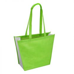 SHOPPING shopping and beach bag made of nonwoven fabric,  green