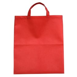 BASIC shopping bag made of nonwoven fabric,  red