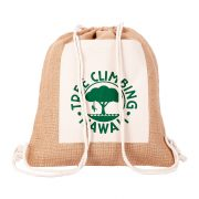 ECO PURE jute backpack, brown