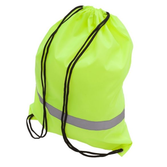 PROMO REFLECT retractable backpack with reflective strap,  yellow