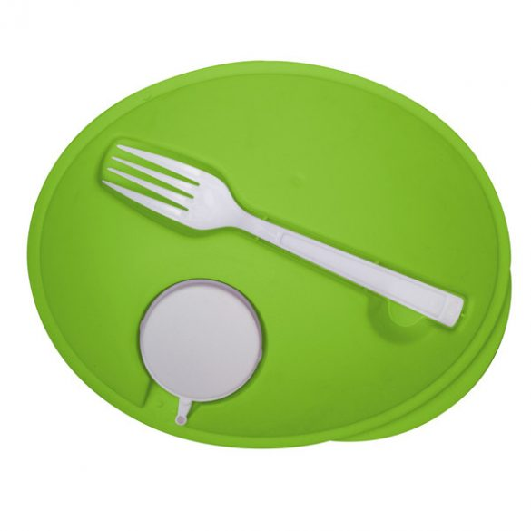 VEGGY salad bowl with fork,  green