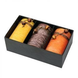 SCENTED set of perfumed candles,  brown/yellow