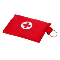 FIRST AID first aid kit, red