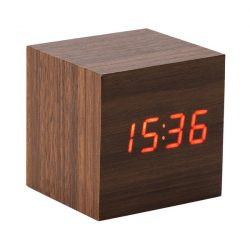 ON TIME table clock,  brown