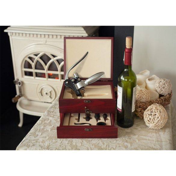 DOUBLE DECKER wine set,  brown