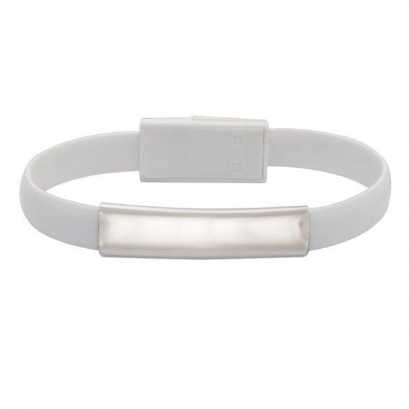BRACELET bracelet with USB,  white