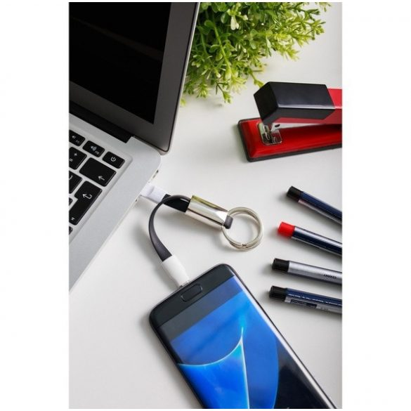 D TRANSFER key ring with USB,  black