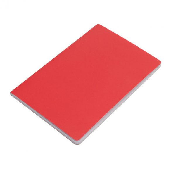 FUNDAMENTAL notebook with clean sides 140x210 / 160 pages,  red