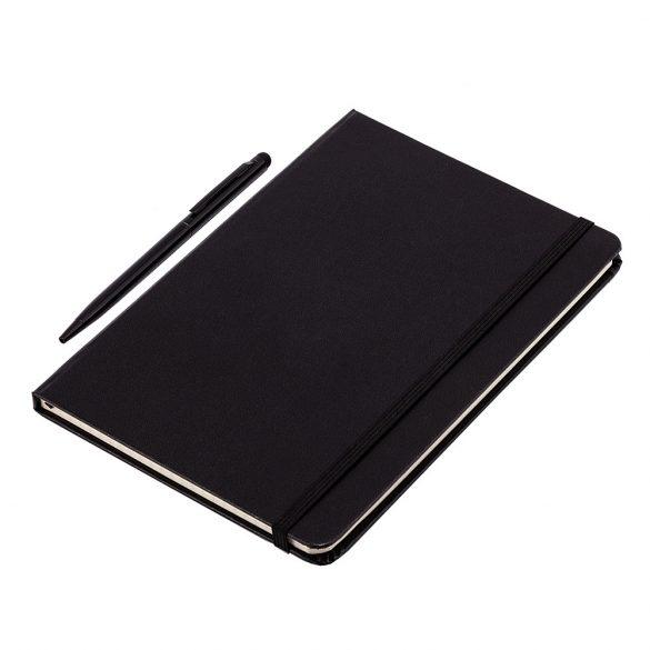 ABRANTES set of scrapbook and ballpoint pen,  black