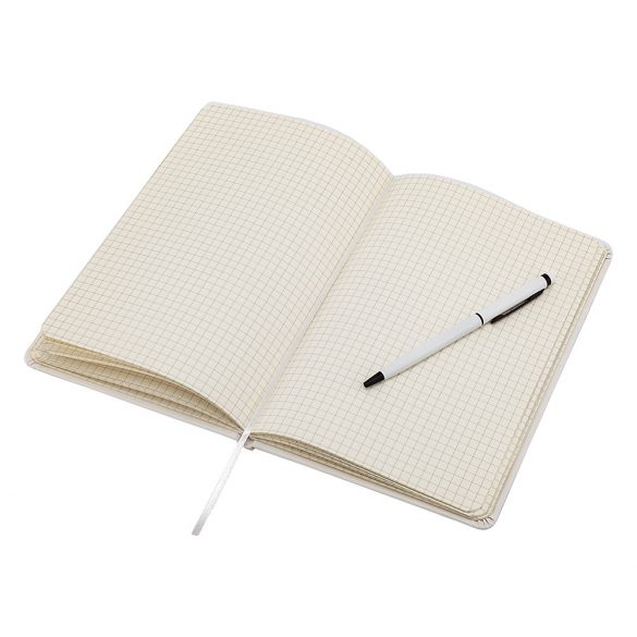ABRANTES set of scrapbook and ballpoint pen,  white