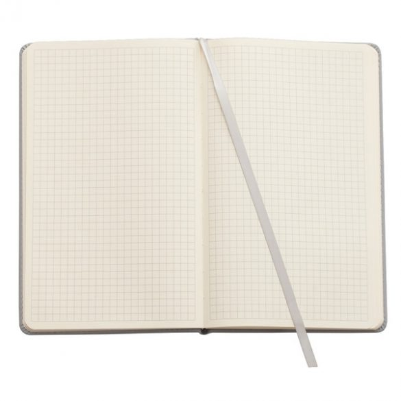 SHEEN notebook with squared pages 130x210 / 160 pages,  grey
