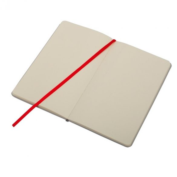 CARTAGENA notebook with squared pages 130x210 / 160 pages,  red/grey
