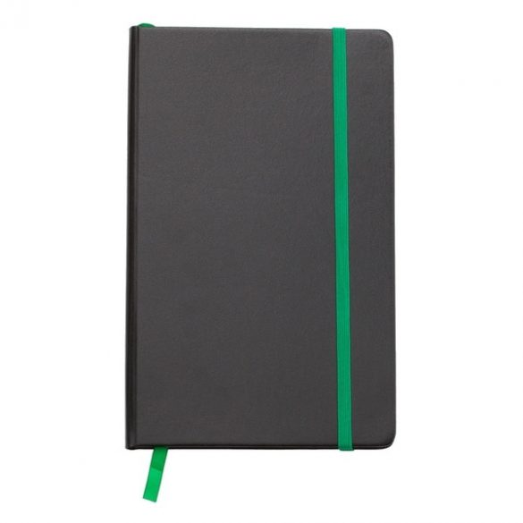 SEVILLA notebook with squared pages 130x210 / 160 pages,  green/black