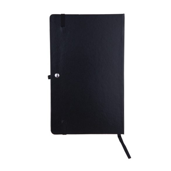 ZAMORA notebook with squared pages 90x140 / 160 pages,  black