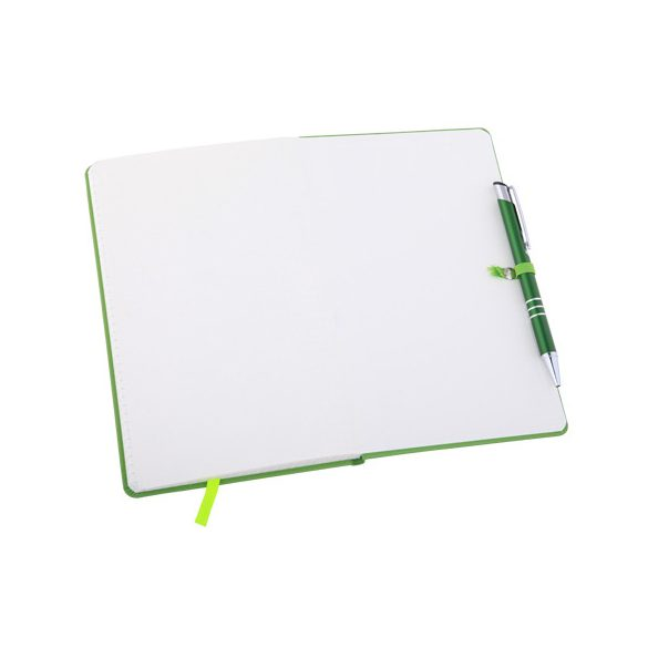ZAMORA notebook with squared pages 90x140 / 160 pages,  green