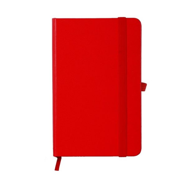 ZAMORA notebook with squared pages 90x140 / 160 pages,  red