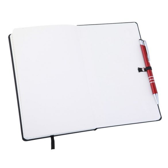 ASTURIAS notebook with squared pages 130x210 / 160 pages,  black