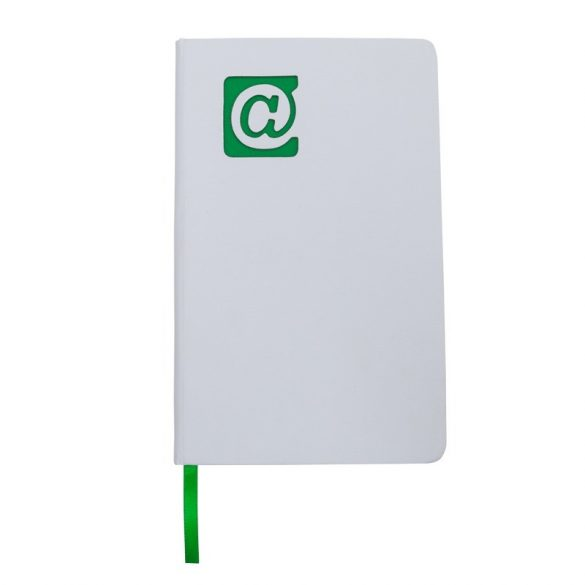 AT NOTE notebook with clean pages 130x210 / 160 pages,  green/white