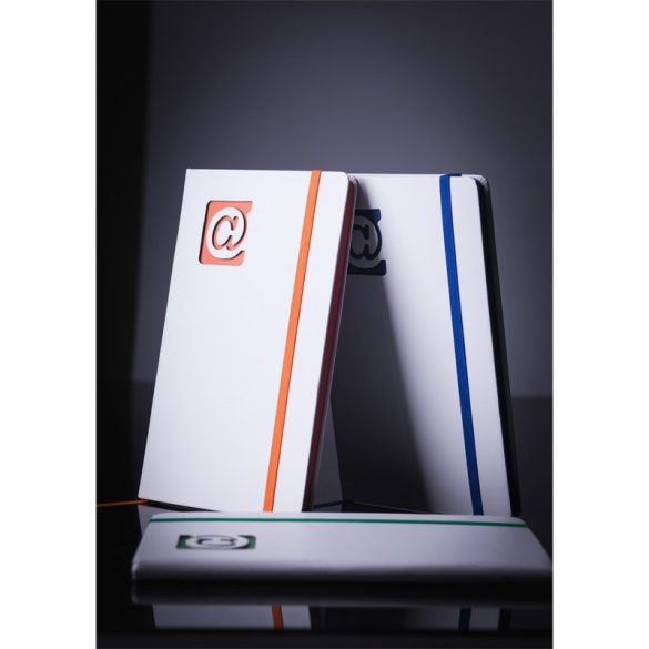 AT NOTE notebook with clean pages 130x210 / 160 pages,  orange/white