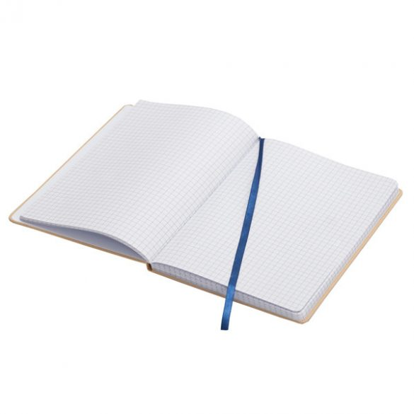 LISBOA notebook with squared pages 145x210 / 160 pages,  blue/beige