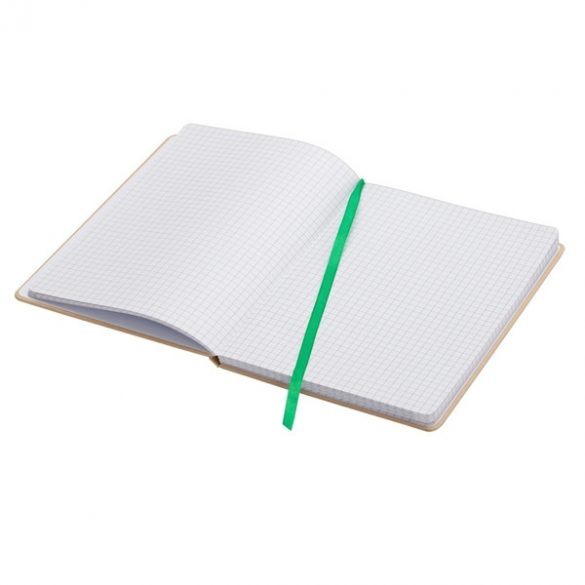 LISBOA notebook with squared pages 145x210 / 160 pages,  green/beige