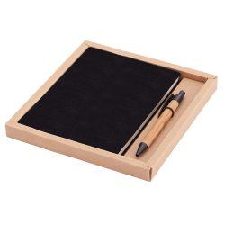 PORTO NOTE set of scrapbook and ballpoint pen,  black