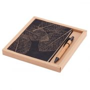PORTO NOTE set of scrapbook and ballpoint pen,  brown